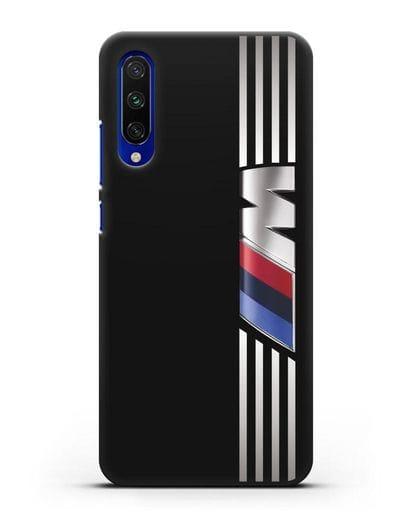 Чехол с символикой BMW M серия силикон черный для Xiaomi Mi CC9 E