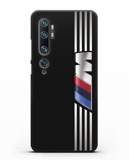 Чехол с символикой BMW M серия силикон черный для Xiaomi Mi Note 10
