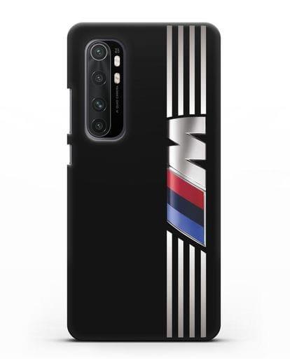 Чехол с символикой BMW M серия силикон черный для Xiaomi Mi Note 10 lite