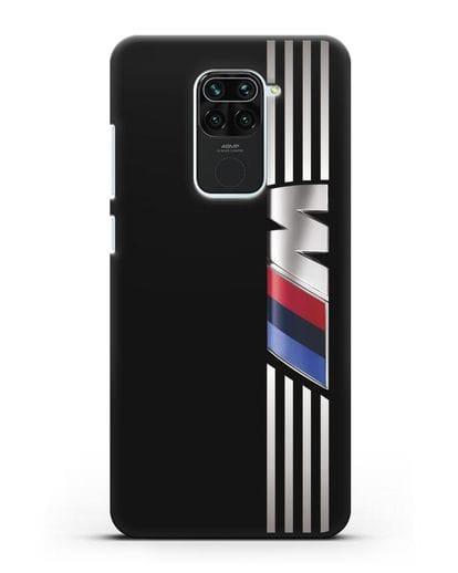 Чехол с символикой BMW M серия силикон черный для Xiaomi Redmi 10X
