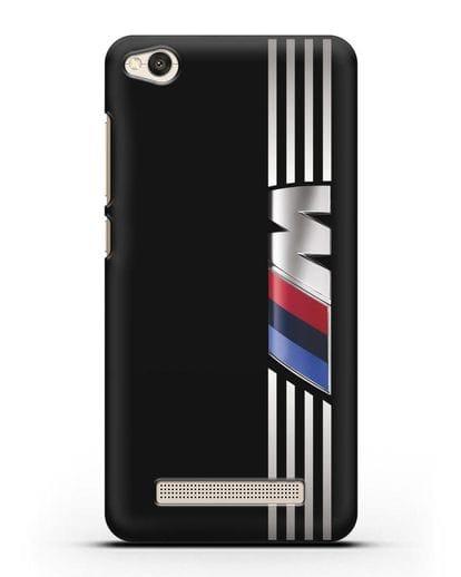 Чехол с символикой BMW M серия силикон черный для Xiaomi Redmi 4A