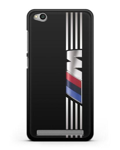 Чехол с символикой BMW M серия силикон черный для Xiaomi Redmi 5A