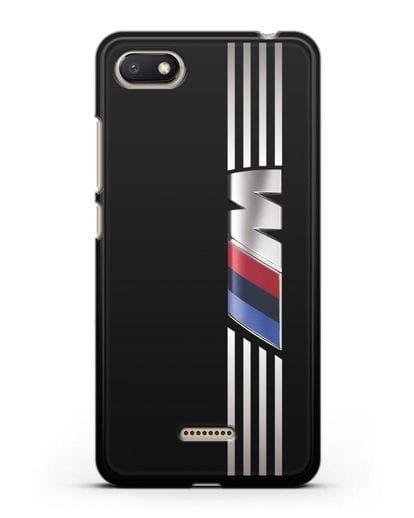 Чехол с символикой BMW M серия силикон черный для Xiaomi Redmi 6A