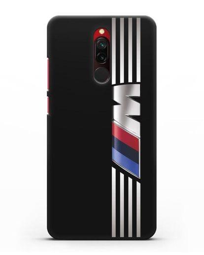 Чехол с символикой BMW M серия силикон черный для Xiaomi Redmi 8