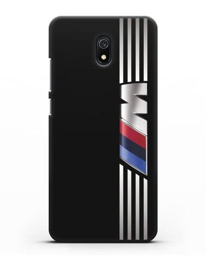Чехол с символикой BMW M серия силикон черный для Xiaomi Redmi 8A
