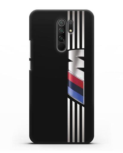 Чехол с символикой BMW M серия силикон черный для Xiaomi Redmi 9