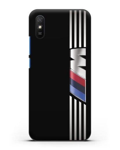 Чехол с символикой BMW M серия силикон черный для Xiaomi Redmi 9A