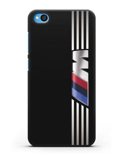 Чехол с символикой BMW M серия силикон черный для Xiaomi Redmi Go