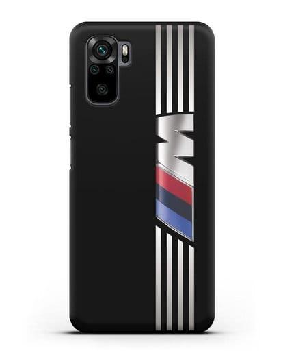 Чехол с символикой BMW M серия силикон черный для Xiaomi Redmi Note 10
