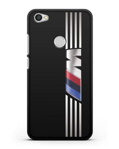 Чехол с символикой BMW M серия силикон черный для Xiaomi Redmi Note 5A Prime