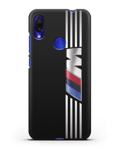 Чехол с символикой BMW M серия силикон черный для Xiaomi Redmi Note 7