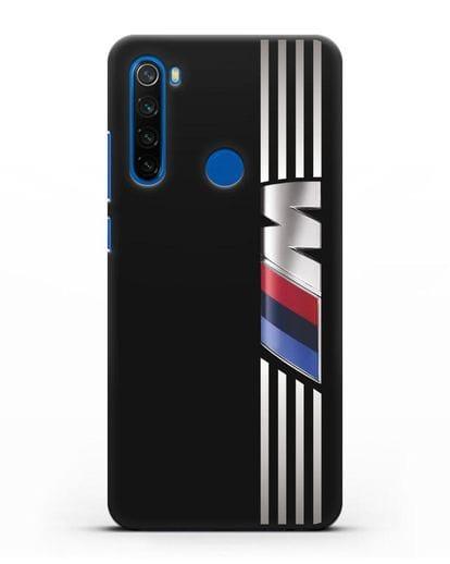 Чехол с символикой BMW M серия силикон черный для Xiaomi Redmi Note 8T