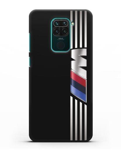 Чехол с символикой BMW M серия силикон черный для Xiaomi Redmi Note 9
