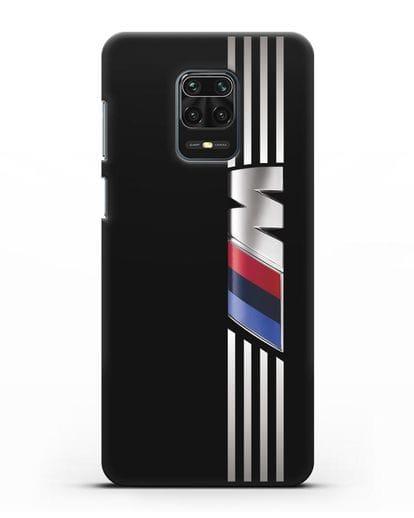 Чехол с символикой BMW M серия силикон черный для Xiaomi Redmi Note 9 Pro