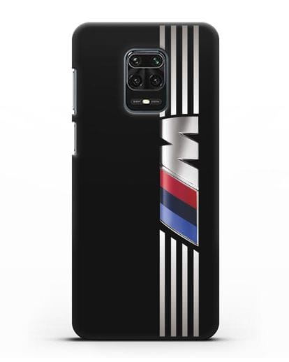 Чехол с символикой BMW M серия силикон черный для Xiaomi Redmi Note 9S