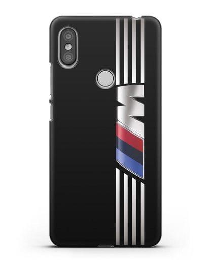 Чехол с символикой BMW M серия силикон черный для Xiaomi Redmi S2