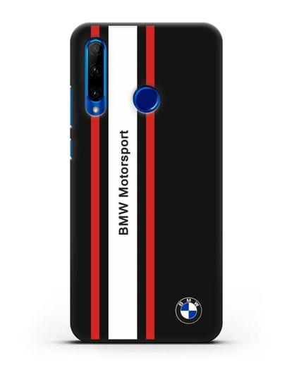 Чехол BMW Motorsport силикон черный для Honor 10i