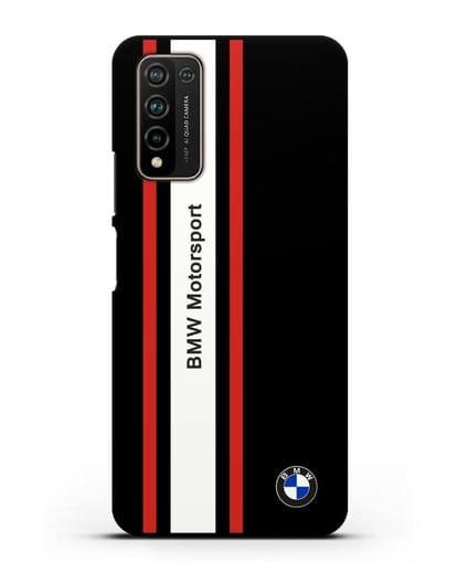 Чехол BMW Motorsport силикон черный для Honor 10X Lite