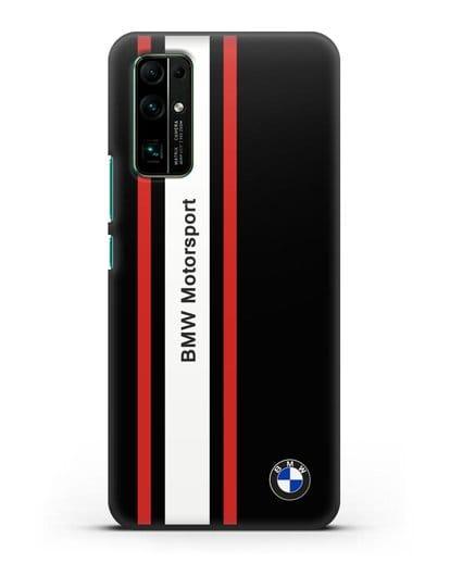 Чехол BMW Motorsport силикон черный для Honor 30