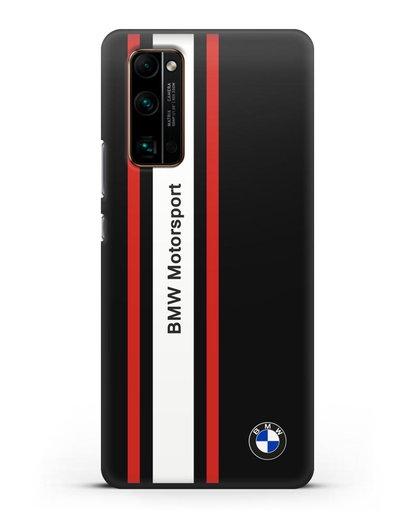 Чехол BMW Motorsport силикон черный для Honor 30 Pro