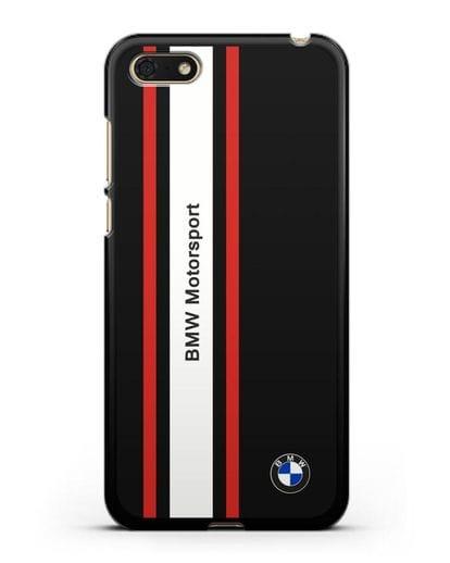 Чехол BMW Motorsport силикон черный для Honor 7А