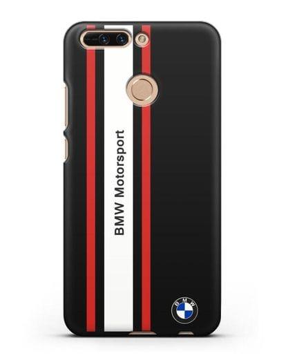 Чехол BMW Motorsport силикон черный для Honor 8 Pro