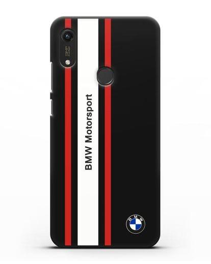 Чехол BMW Motorsport силикон черный для Honor 8A Prime