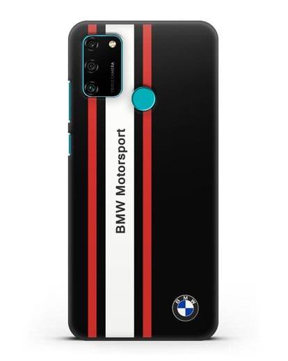 Чехол BMW Motorsport силикон черный для Honor 9A