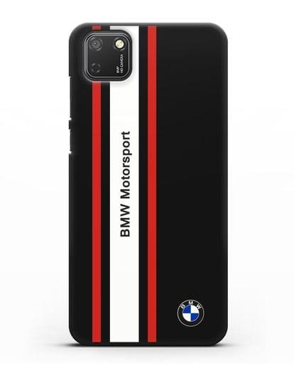 Чехол BMW Motorsport силикон черный для Honor 9S