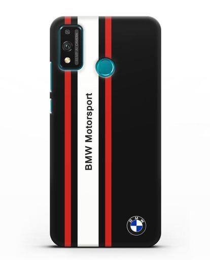 Чехол BMW Motorsport силикон черный для Honor 9X lite