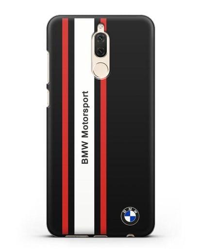 Чехол BMW Motorsport силикон черный для Huawei Mate 10 Lite