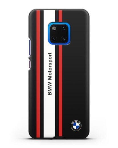 Чехол BMW Motorsport силикон черный для Huawei Mate 20 Pro