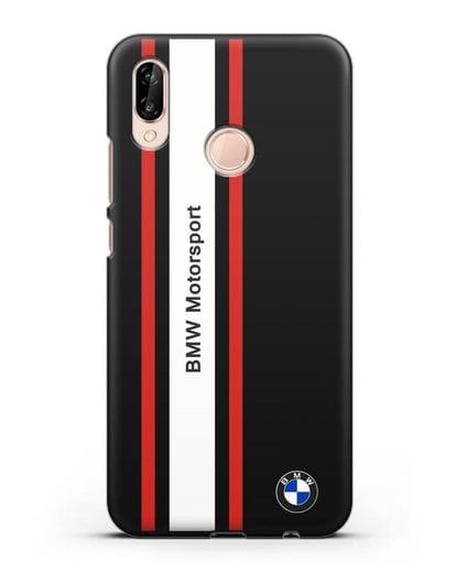 Чехол BMW Motorsport силикон черный для Huawei P20 Lite
