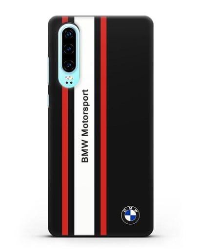 Чехол BMW Motorsport силикон черный для Huawei P30