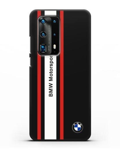 Чехол BMW Motorsport силикон черный для Huawei P40 Pro