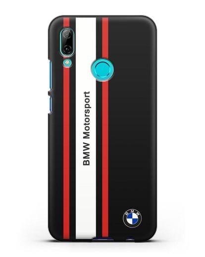 Чехол BMW Motorsport силикон черный для Huawei P Smart 2019