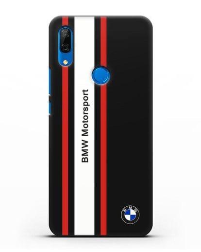 Чехол BMW Motorsport силикон черный для Huawei P Smart Z