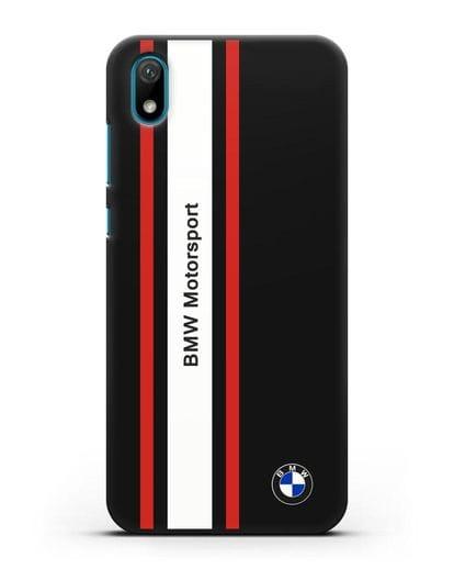 Чехол BMW Motorsport силикон черный для Huawei Y5 2019