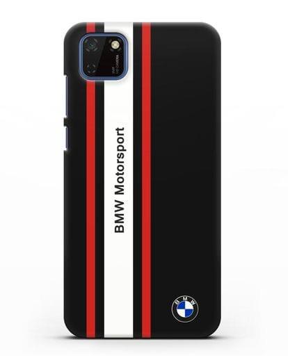 Чехол BMW Motorsport силикон черный для Huawei Y5P