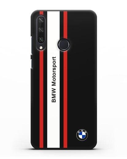 Чехол BMW Motorsport силикон черный для Huawei Y6P