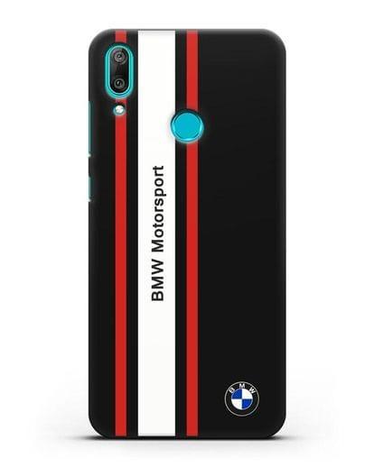Чехол BMW Motorsport силикон черный для Huawei Y7 2019