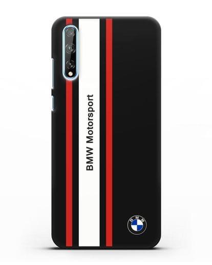 Чехол BMW Motorsport силикон черный для Huawei Y8P