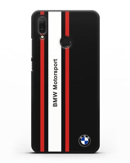 Чехол BMW Motorsport силикон черный для Huawei Y9 2019