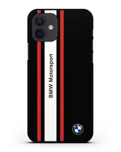 Чехол BMW Motorsport силикон черный для iPhone 12