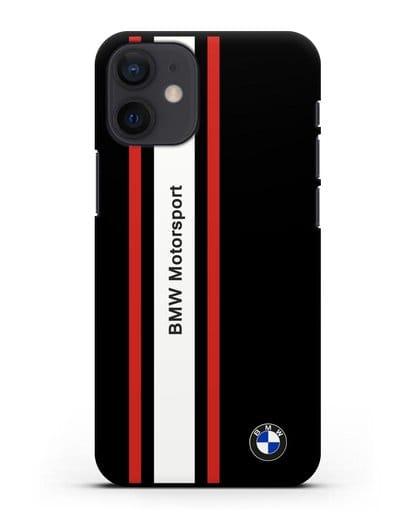 Чехол BMW Motorsport силикон черный для iPhone 12 mini