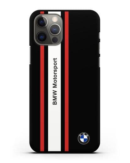 Чехол BMW Motorsport силикон черный для iPhone 12 Pro