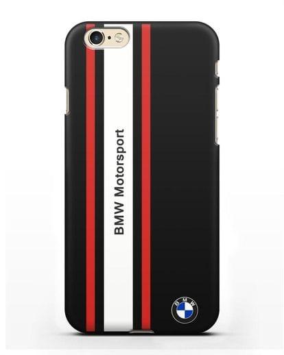 Чехол BMW Motorsport силикон черный для iPhone 6