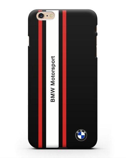Чехол BMW Motorsport силикон черный для iPhone 6s Plus
