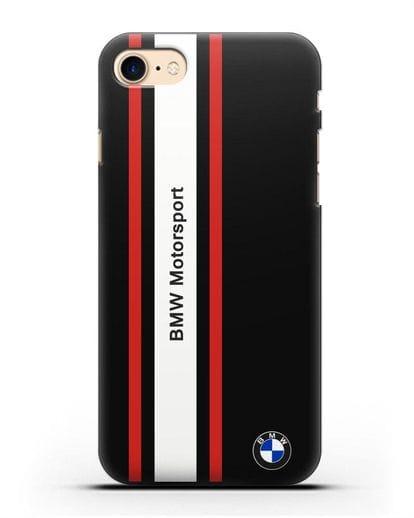 Чехол BMW Motorsport силикон черный для iPhone 8