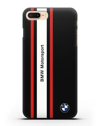 Чехол BMW Motorsport силикон черный для iPhone 7 Plus